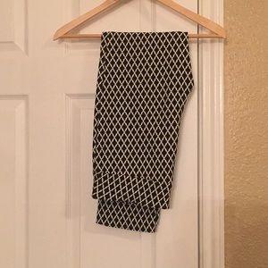 Women's black/white printed pants